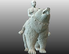 Vladimir Putin on bear 3D print model