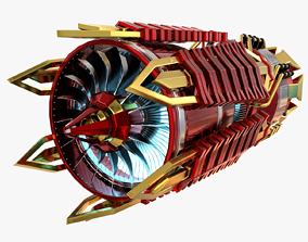 Futuristic Jet Engine 3D model