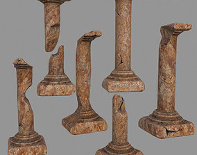 pillar set 3D asset