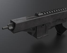 3D model gun fire