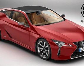 3D model Lexus LC 500 EU Hybrid 2018