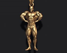3D printable model Bodybuilder pendant