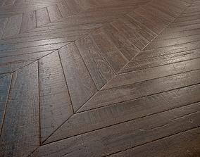 Old chevron Parquet - PBR textures 3D model game-ready