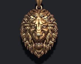 3D print model lion pendant new