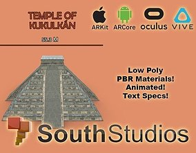 animated Animated Mayan Temple Kukulkan AR VR Unity 3dsmax