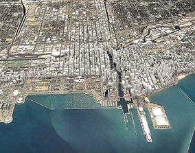 3D Cityscape Chicago USA