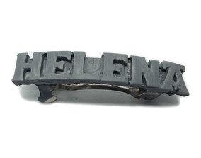 3D print model HELENA Personalized Hair Barrete 40-45