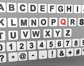 3D Letters square shape