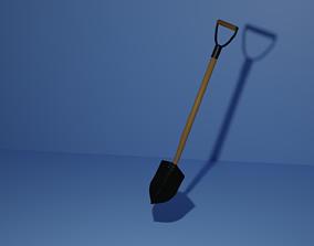 Spade 3D asset game-ready