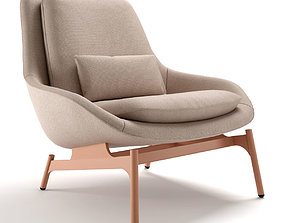 3D Blu Dot Field Lounge Chair