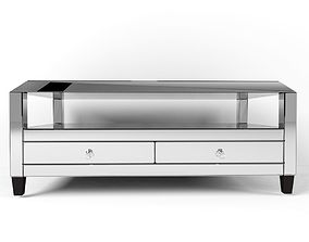 Montreal Mirrored Cocktail Table Drawers 3D