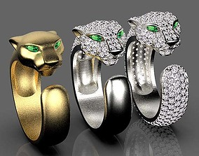 panther ring 3D print model rings