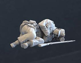 miniature 3D print model German soldier