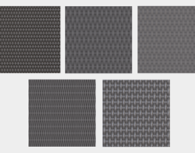 5 tileable Wicker textures pack 3D asset