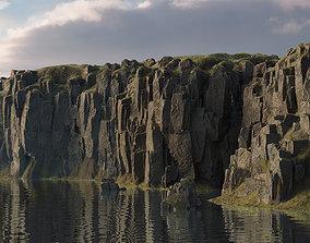 Modular cliffs and rocks 3D model