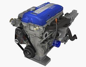 3D asset TOMEI Genesis SR22G engine