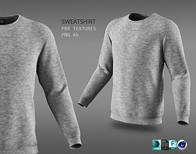 3D asset sweatshirt male grey