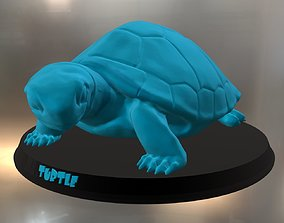 Turtle sea wildlife 3D print model