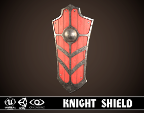 3D asset low-poly Knight Shield 03