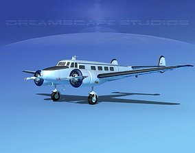 Lockheed L10 Electra Pegase 3D model