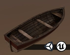3D asset Painted Wooden Boat - PBR and Game Ready
