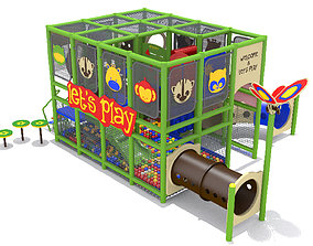 Playground- Indoor Jungle Playland 3D model