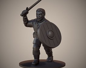 3D print model Human Swordsman Miniature 01