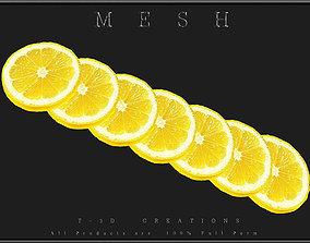 3D model Slice of Lemon - All in One