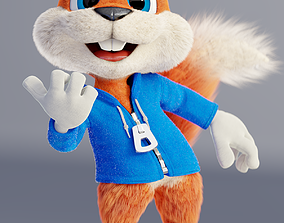 Conker The Squirrel 3D rigged