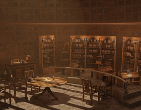 Medieval Library Model Pack Rustic low-poly