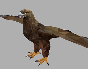 Eagle Low Polygon Art Bird Animal 3D model