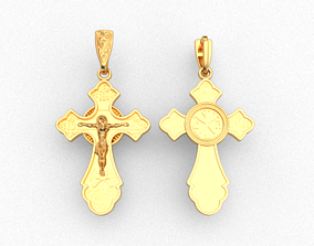 Cross ortodox 3D print model christ