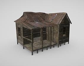 3D model VR / AR ready Rural Shack