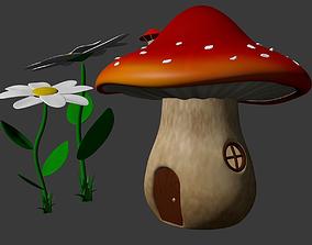 3D model Fairytale mushroom house