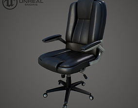 Office chair game-ready 3D model game-ready