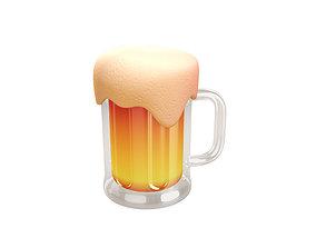 cup 3D model Beer Glass