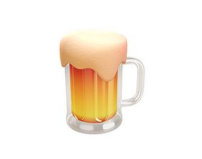 3D model Beer Glass cup