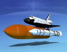 Space Shuttle Endeavour Launch MP 2-1 3D
