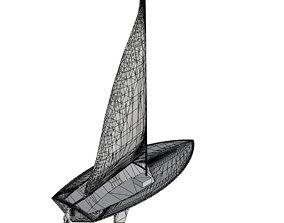 Flying Junior Sailboat 3D asset