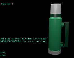 Low poly thermos 1 3D model