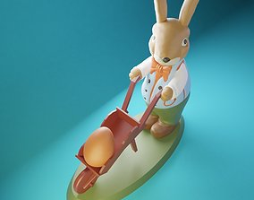 3D printable model Easter Bunny Robert with Egg Cart