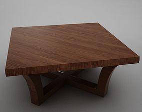 3D model Modern wood coffe table