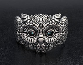 3D printable model Cute Owl Ring