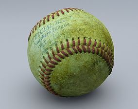 weathered Old baseball 1 cleaned 3D scan with LODs