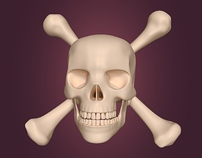 3D asset Pirate Skull Symbol