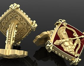 3D print model material Zodiac signs Cufflinks Archer