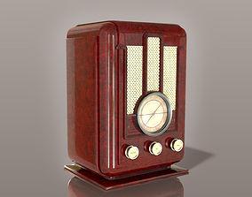 Vintage radio electronics 3D model