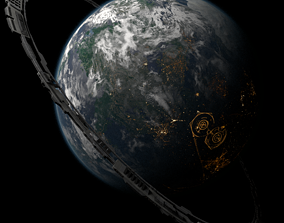 Kuat - Star Wars Planet 3D asset game-ready