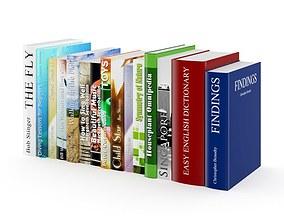 Books Set office 3D model