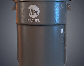 3D asset VR / AR ready Trash bin